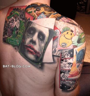 Batman tattoos bat fan diaries for Joker batman tattoo