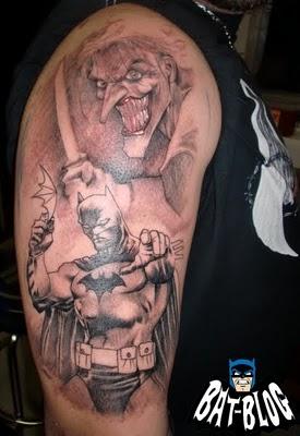 Batman tattoos from the bat blog bat fan diaries for Joker batman tattoo